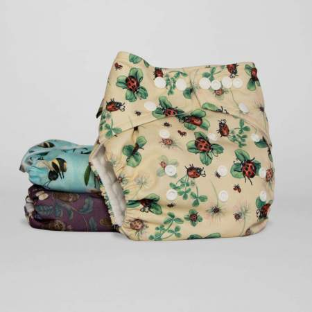 One Size Pocket Cloth Nappy  V2  Garden Song Collection | Little Lamb