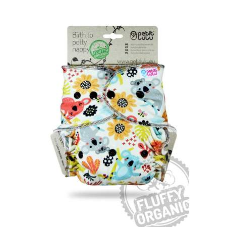 copy of Fitted Fluffy Organic one size Petit Lulu Frisky Koalas