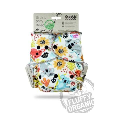 Fitted Maxi XL Fluffy Organic taglia unica Petit Lulu Frisky Koalas