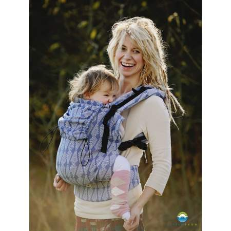 Ergonomic carrier XL Toddler Blue Pines  Little Frog