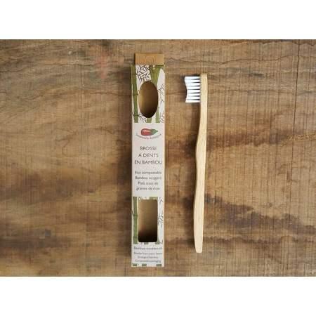 Spazzolino Bambini in bambù con setole realizzate con olio di ricino | Savonnerie Aubergine