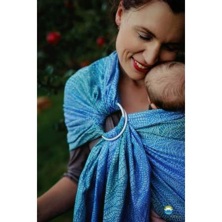Ring Sling Marine Linen Wildness | Little Frog