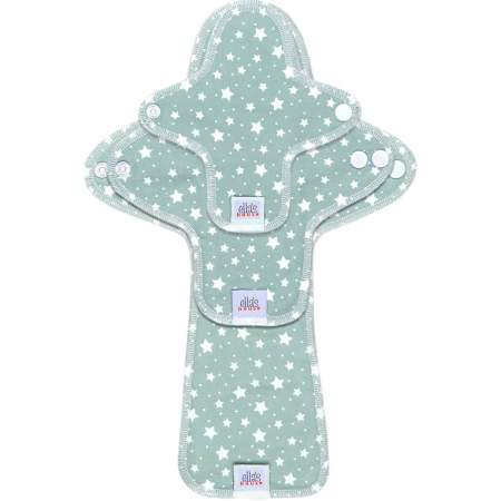Assorbenti Lavabili Moon Pads Stars Cloud Blue Kit Prova | Ella's House