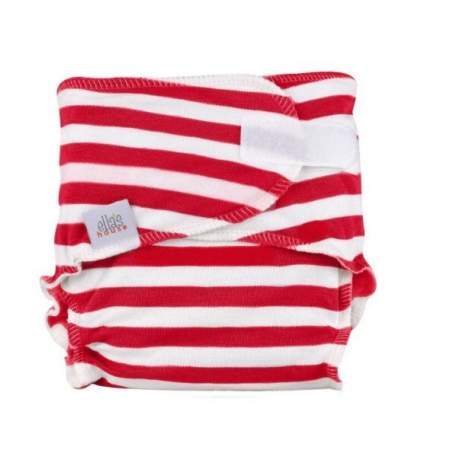 Fitted Newborn in Canapa Newbie Red Stripes  |  Ella's House
