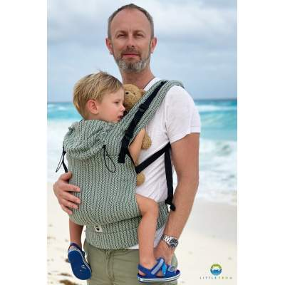 Ergonomic Carrier Toddler Green Fishbone | Little Frog