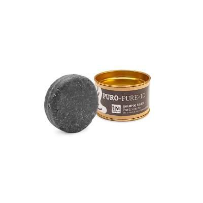 Puro-Pure-Io Shampoo Solido Purificante con Olio di Semi di Lino e Carbone di Cocco| Tea Natura