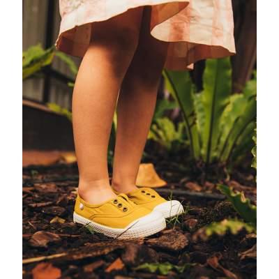 Sneakers in Tela di Cotone Berri Mostarda | Igor Shoes