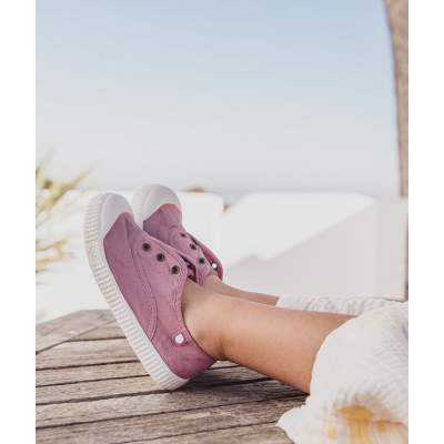 Sneakers in Tela di Cotone Berri Rosa | Igor Shoes
