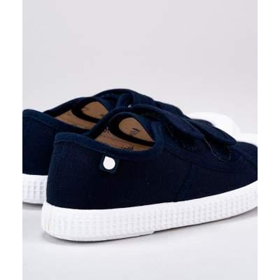 Sneakers in Tela di Cotone con velcro Berri Marine | Igor Shoes