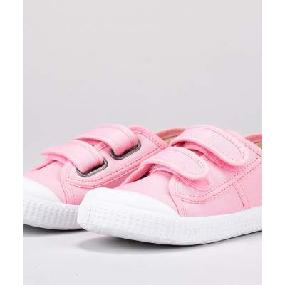 Sneakers in Tela di Cotone con velcro Berri Pink | Igor Shoes
