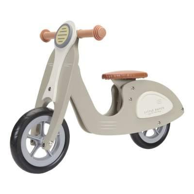Scooter in legno senza pedali Hout Olive | Little Dutch