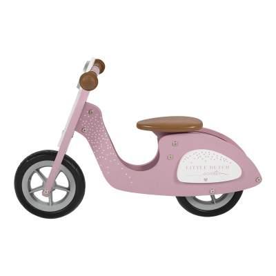 Scooter in legno senza pedali Pink | Little Dutch