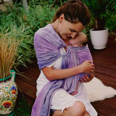 Ring Sling Lilac Wildness | Little Frog