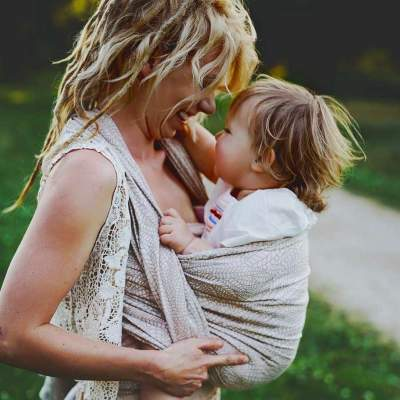 Woven Baby Wrap  Natural Wildness | Little Frog