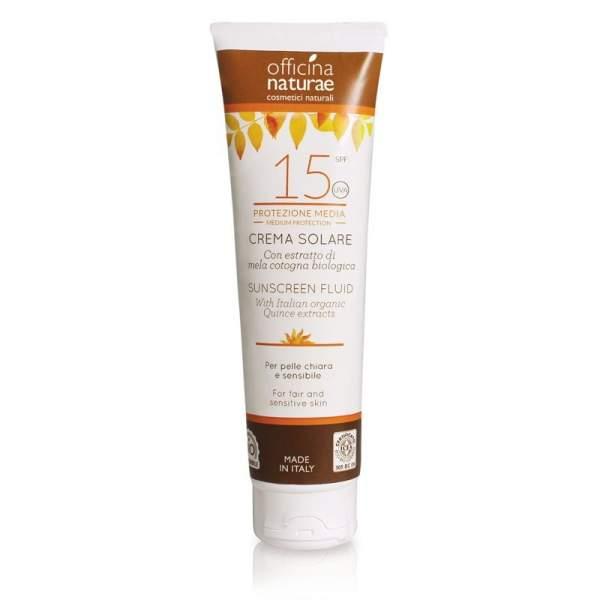 Crema Fluida Solare Spf 15 Protezione Media | Officina Naturae