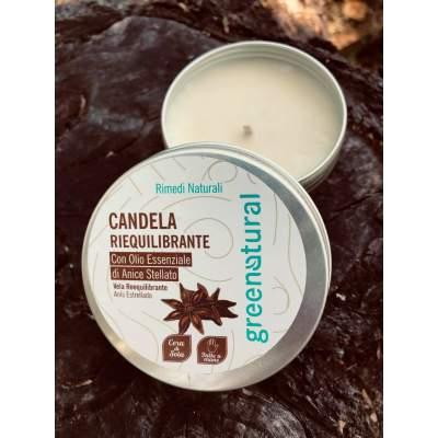 Eco Candela Energizzante  con olio essenziale di Cannella & Arancio  | Greenatural