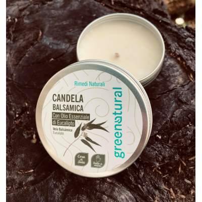 Eco Candela Balsamica  con olio essenziale di Eucalipto | Greenatural