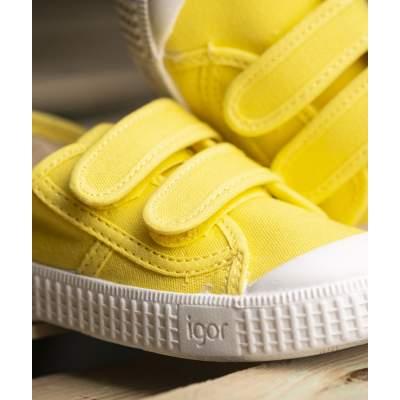 Sneakers Velcro Amarillo | Igor Shoes