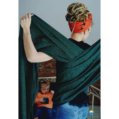 Woven Baby Wrap  Emerald Cube| Little Frog