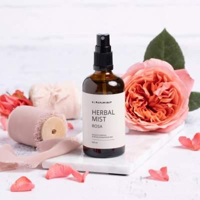 Herbal Mist Idrolato di Rosa Damascena Bio | Almara Soap