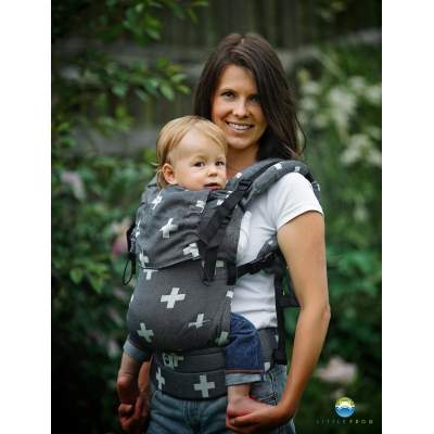 Adjustable Baby Carrier Prime Gray Cations | Little Frog
