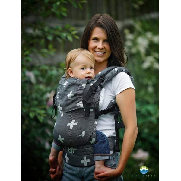 Adjustable Baby Carrier Prime Gray Cations   Little Frog