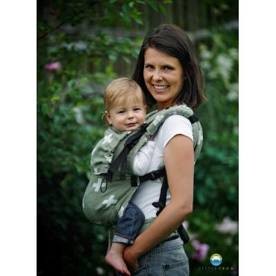 Adjustable Baby Carrier Prime Green Cations | Little Frog