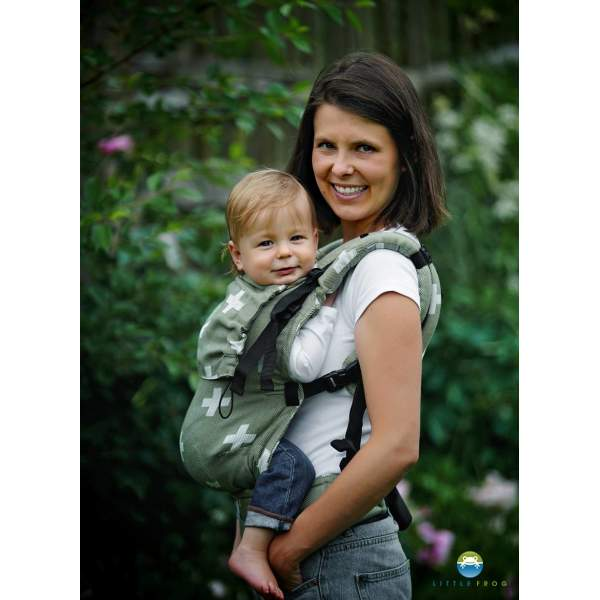 Adjustable Baby Carrier Prime Green Cations   Little Frog