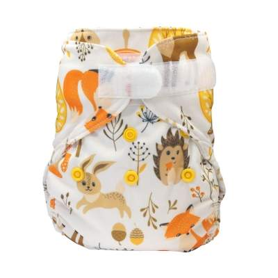 Blümchen diaper cover Newborn with gussets Woodlife  (3-6 kg)