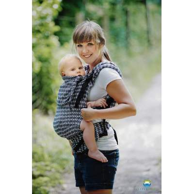Adjustable Baby Carrier Prime Gray Mosaic | Little Frog