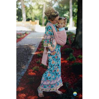 Baby Wrap Pink Linen Wildness |  Little Frog