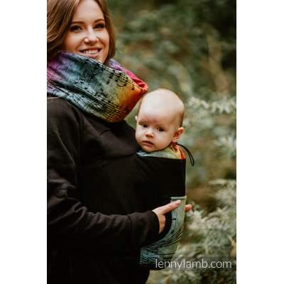 Babywearing Sweatshirt Unisex 3.0 Black & Symphony  Rainbow Dark | Lenny Lamb