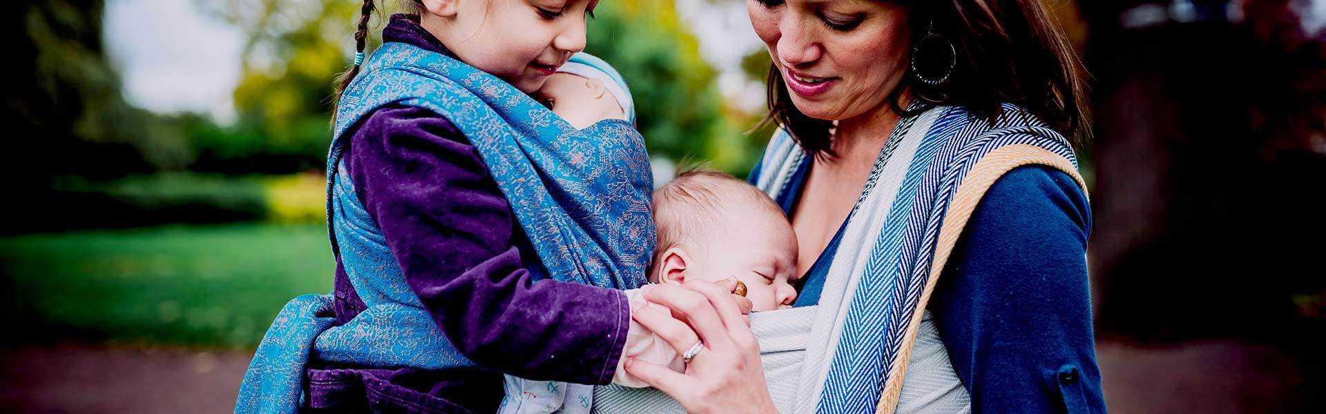 Fasce rigide, fasce elastiche e ad anelli, marsupi, meitai porta bebè